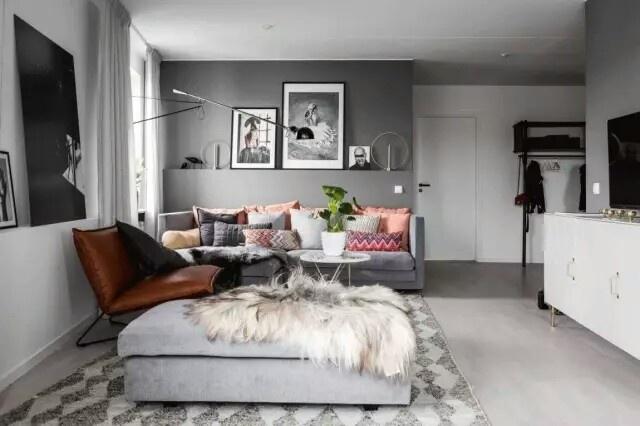 奢华的深灰色的家