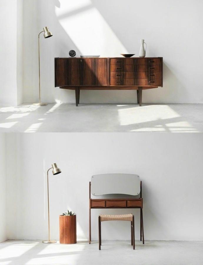 温暖:白墙与木质家具