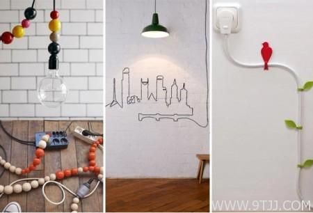 家居电线明线布线的艺术