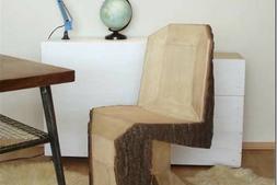 木材質的DIY版潘頓椅